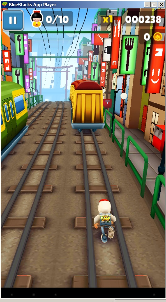 Игра Subway Surf в эмуляторе BlueStacks