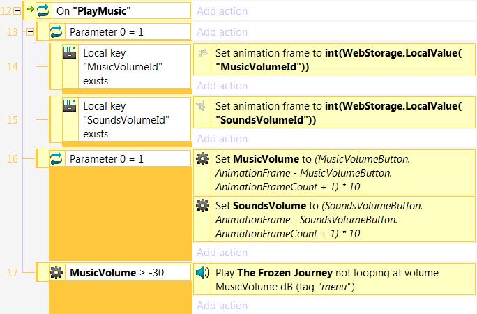 Запуск воспроизведения фоновой музыки в меню игры