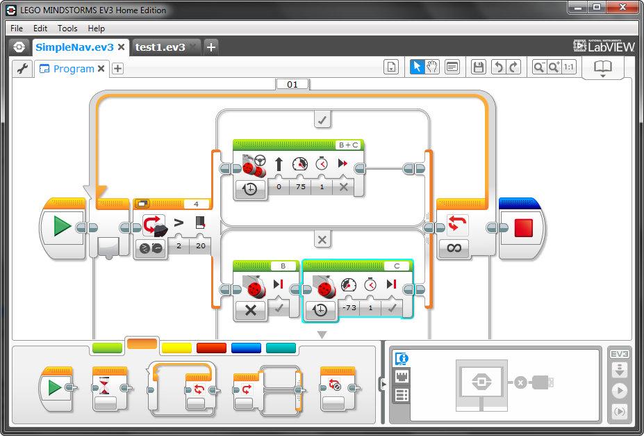 Программное обеспечение LEGO Mindstorms EV3