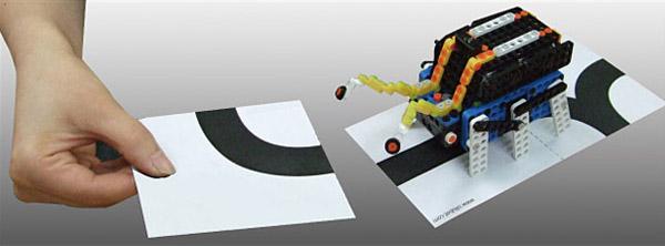 Жук и карточки для создания маршрута из набора Robotis OLLO Bug