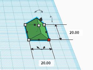 Маркер изменения двух размеров в Tinkercad