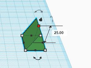 Изменение высоты формы в Tinkercad