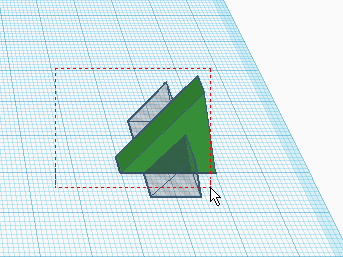 Выделение рамкой нескольких объектов в Tinkercad