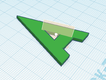 Выбор места для создания рабочей плоскости в Tinkercad
