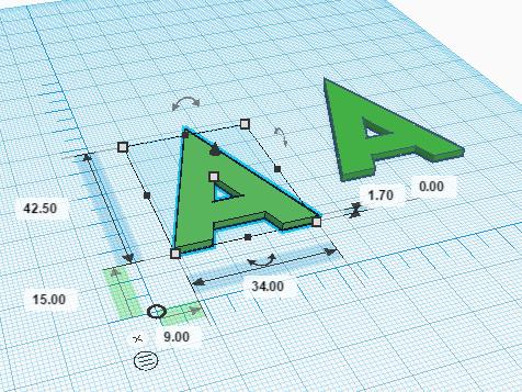 Измерение расстояний с помощью линейки в Tinkercad