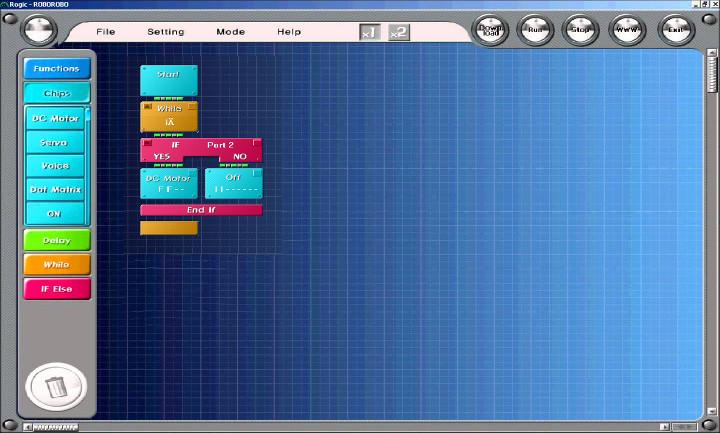 Графический интерфейс программы Rogic Program