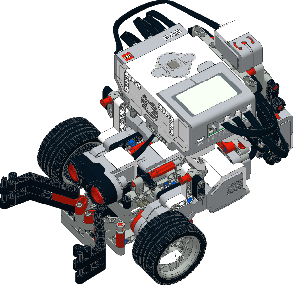Робот с клешнёй LEGO EV3