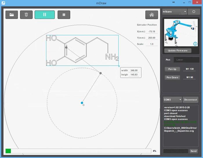 mDraw - программа для подготовки рисунков для роботов из набора mDrawBot