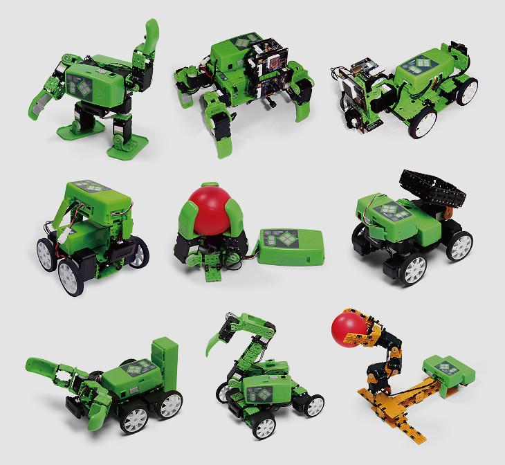 Роботы изготовленные из набора Hovis Lite