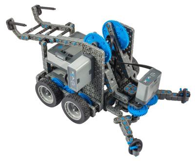 Робот с клешнёй, собранный из набора VEX IQ