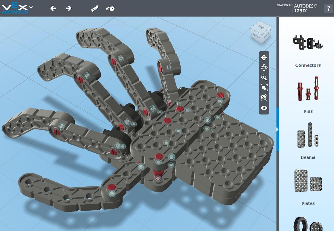 Проектирование конструкции робота с помощью программы VEX Assembler